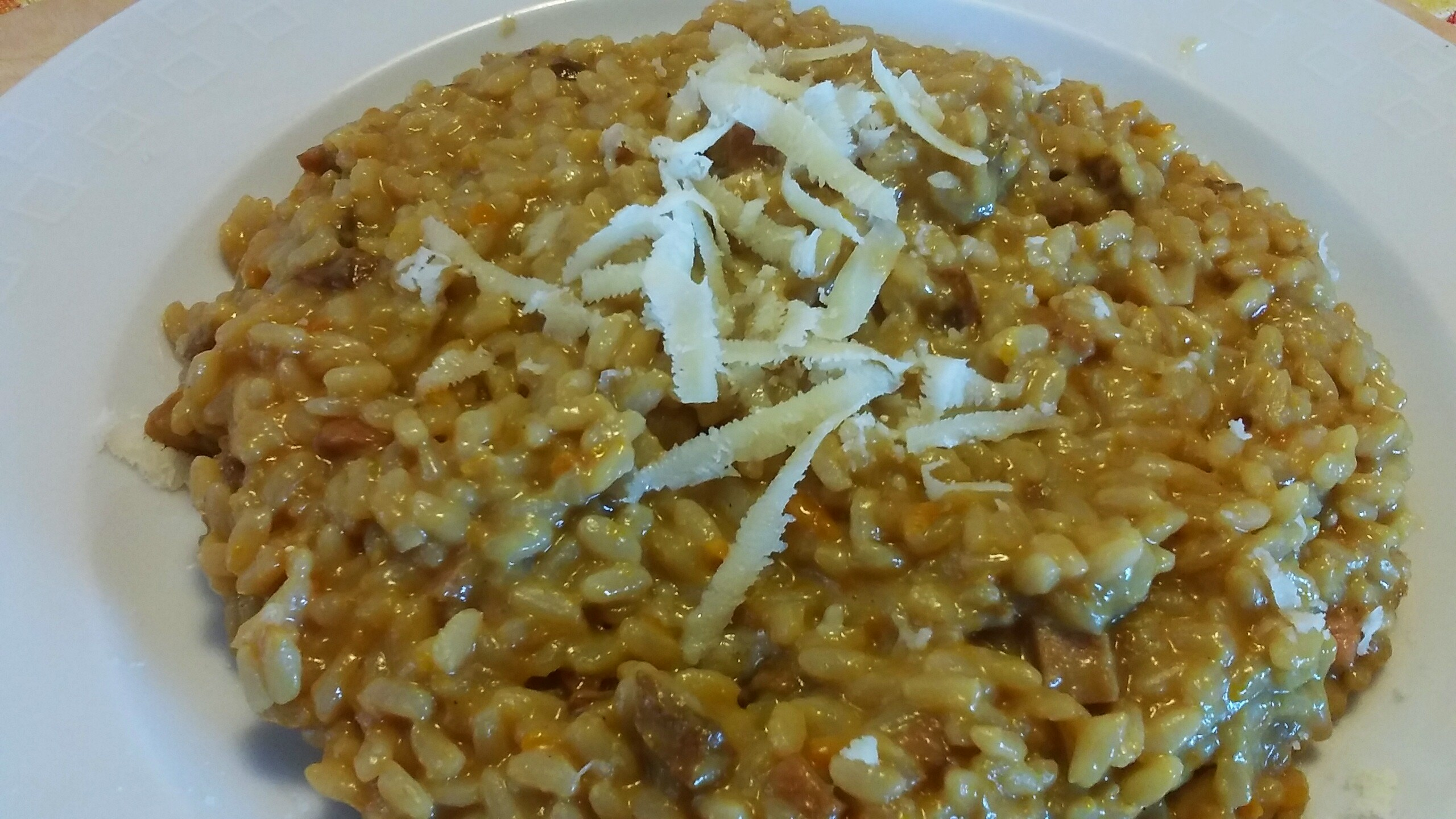 risotto integrale cotto e pocini