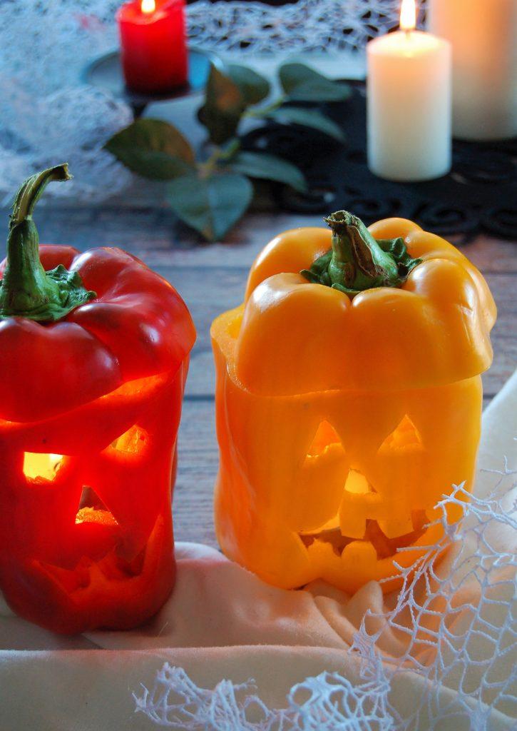 Peperoni (come le zucche) di Halloween